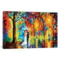 iCanvas Rainy Wedding by Leonid Afremov Canvas Print