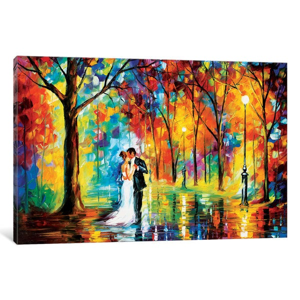 iCanvas Rainy Wedding by Leonid Afremov Canvas Print
