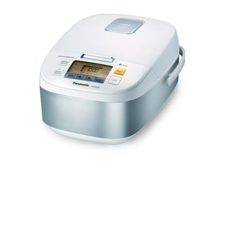 Panasonic 5-Cup Microcomputer Controlled Rice Cooker, Stainless Steel/White
