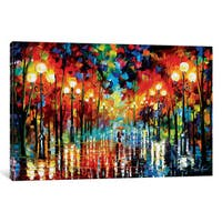 iCanvas A Date With The Rain by Leonid Afremov Canvas Print
