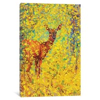 iCanvas White Tailed Deer by Iris Scott Canvas Print