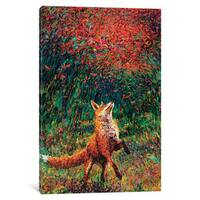 iCanvas Fox Fire by Iris Scott Canvas Print