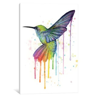 iCanvas Rainbow Hummingbird by Olga Shvartsur Canvas Print