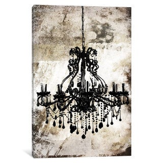 iCanvas Black Chandelier by iCanvas Canvas Print