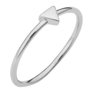 Fremada Sterling Silver Rhodium Plated Triangle Ring