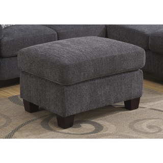 Emerald Clayton Charcoal Ottoman