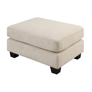 Emerald Clayton Cream Ottoman