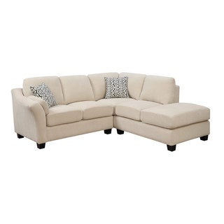 Emerald Clayton Cream 2pc Sectional Sofa