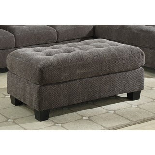 Emerald Trinton Pewter Storage Cocktail Ottoman