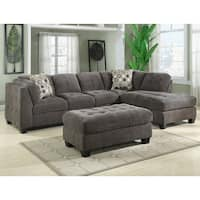 Emerald Trinton Pewter 2pc Sectional Sofa