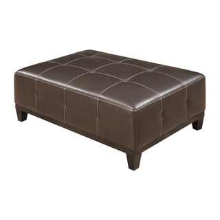 Emerald Marquis Walnut Tufted Cocktail Ottoman