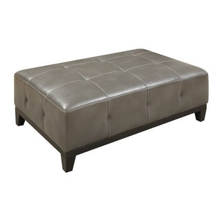Emerald Marquis Grey Tufted Cocktail Ottoman
