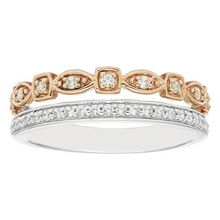 Boston Bay Diamonds 14k Two-tone Gold 1/4ct TDW Stacked Diamond Ring (H-I, I1-I2)