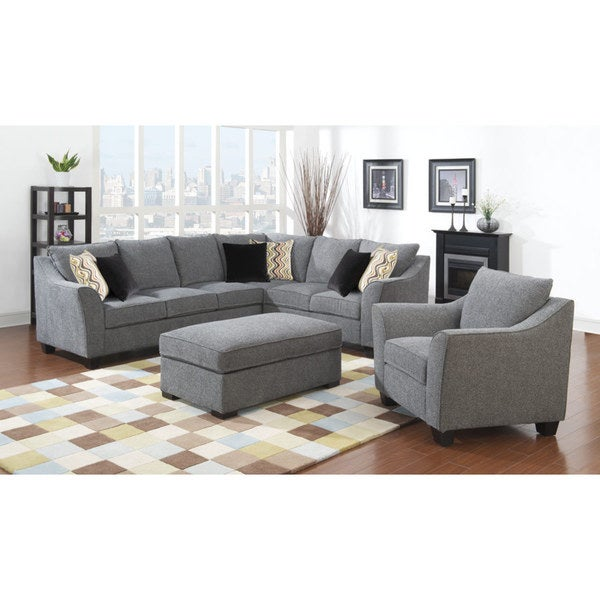 Shop Emerald Calvina Whistler Grey 2pc Sectional Sofa
