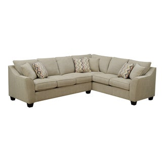Emerald Calvina Whistler Sand 2pc Sectional Sofa