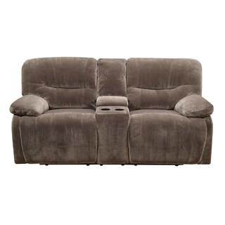 Emerald Mocha Power Dual Reclining Loveseat with Console