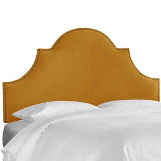 Skyline Furniture Regal Antique Gold Nail Button High Arch Notched Headboard