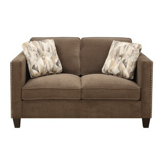 Emerald Focus Chocolate Loveseat