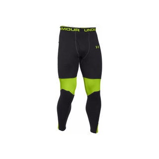 Under Armour Men's Base Extreme Black and Green Hunting Leggings