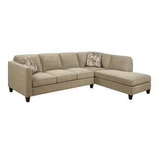 Emerald Focus Granite 2PC Chaise Sectional Sofa