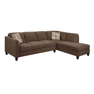 Emerald Focus Chocolate 2PC Sectional Sofa
