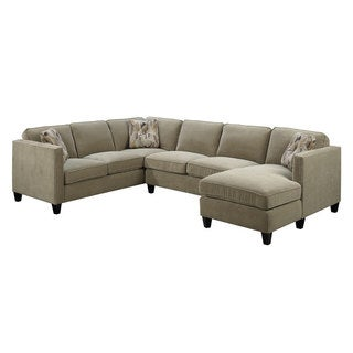 Emerald Focus Granite 3PC U Shaped Sectional Sofa