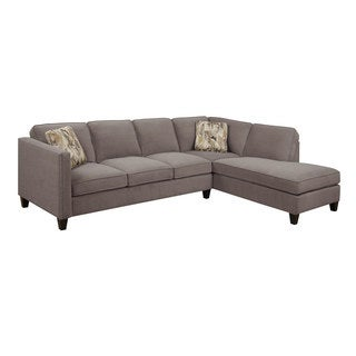 Emerald Focus Charcoal 2PC Sectional Sofa