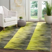 Safavieh Hand-Woven Kilim Flatweave Green / Charcoal Wool Rug - 8' x 10'