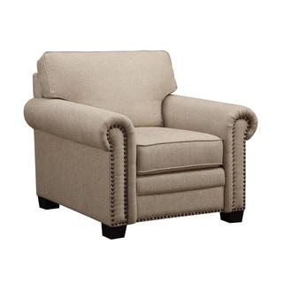 Emerald Lacie Broadway Linen Beige Club Chair