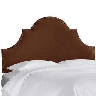 Skyline Furniture Regal Chocolate Nail Button High Arch Notched Headboard
