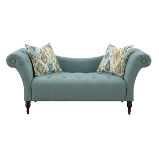 Emerald Lucille Transitional High Arm Settee