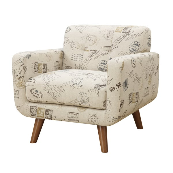 Beau Emerald Remix Printed Accent Armchair