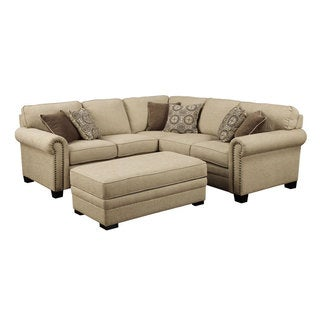 Emerald Lacie Broadway Linen Beige 2pc Sectional