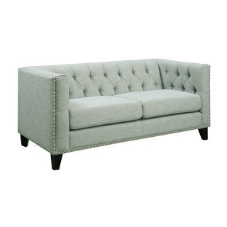 Emerald Spa Button Tufted Contemporary Loveseat