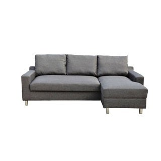 Turin Dark Grey Fabric Right-facing Sofabed Sectional