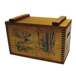 Standard Wooden Deer Print Box