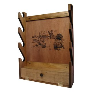 Evans Brown Wood 4-gun Rack