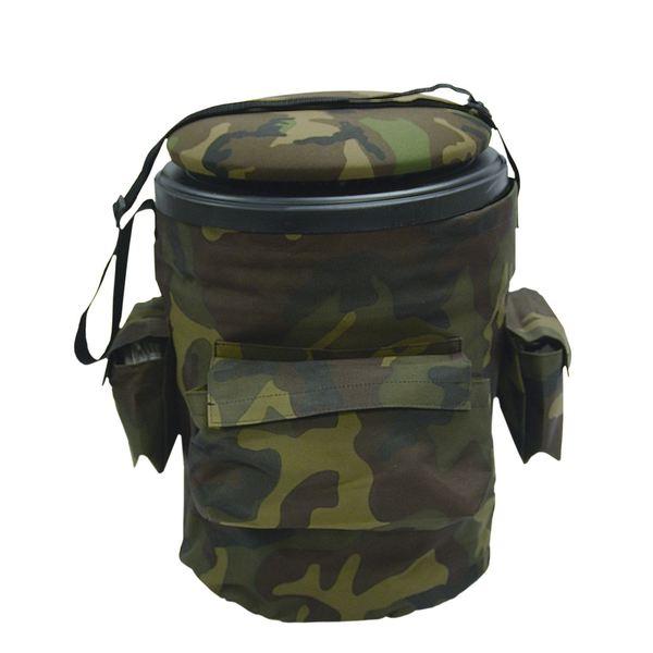 Dlx Woodland Camo Fabric/Plastic Sports Bucket