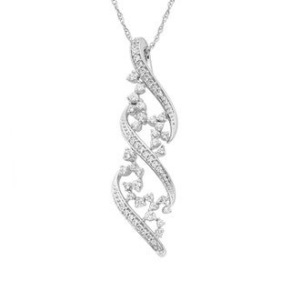 14k White Gold 1/4ct TDW Diamond Fashion Pendant Necklace (H-I, I1-I2)