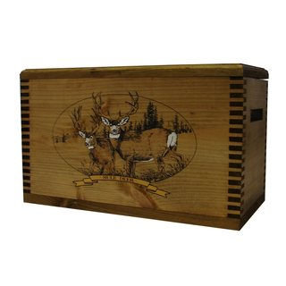 Brown Wood Mule Deer Print Accessory Box