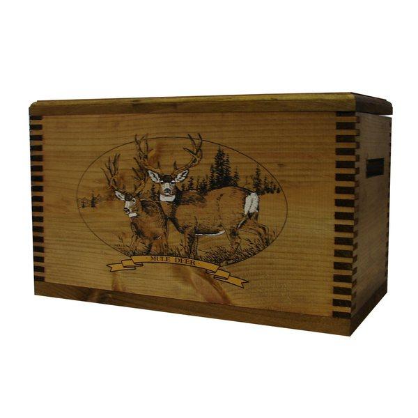 Brown Wood Mule Deer Print Accessory Box
