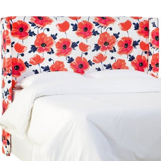 Skyline Furniture Papaver Maraschino Wingback Headboard