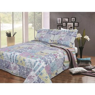 Pastel Floral 3-piece Quilt Set