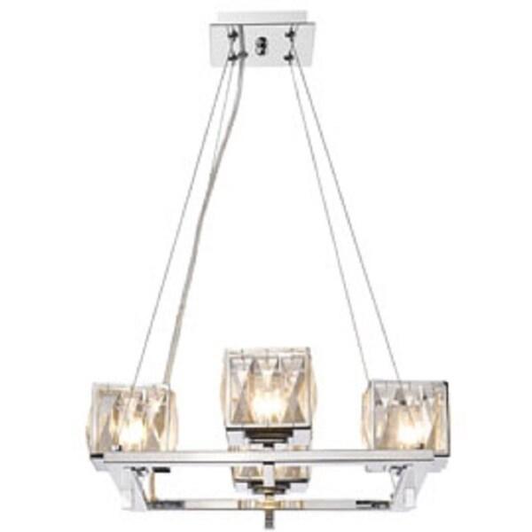 Golden Lighting Neeva Chrome Steel/Glass 4-light Chandelier