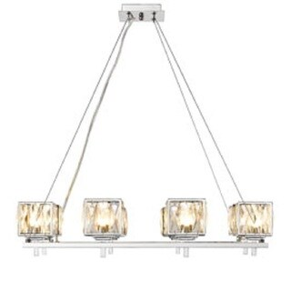 Golden Lighting Ella Bronzewhite Gold Tone Steel 6 Light Chandelier