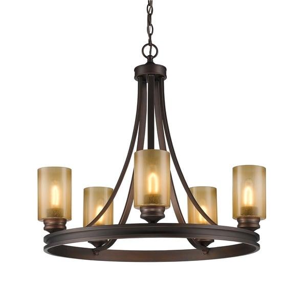 Golden Lighting 1051-5 SBZ Hidalgo Bronze Steel 5-light Chandelier