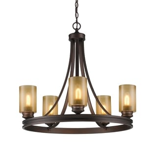 Golden Lighting 1051-5 SBZ Hidalgo Bronze Steel 5-light Chandelier