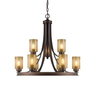 Golden Lighting 1051-9 SBZ Hidalgo Bronze Steel 2-tier 9-light Chandelier