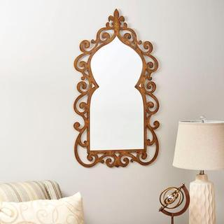 Ornate Bronze-framed Scrolled Wall Mirror