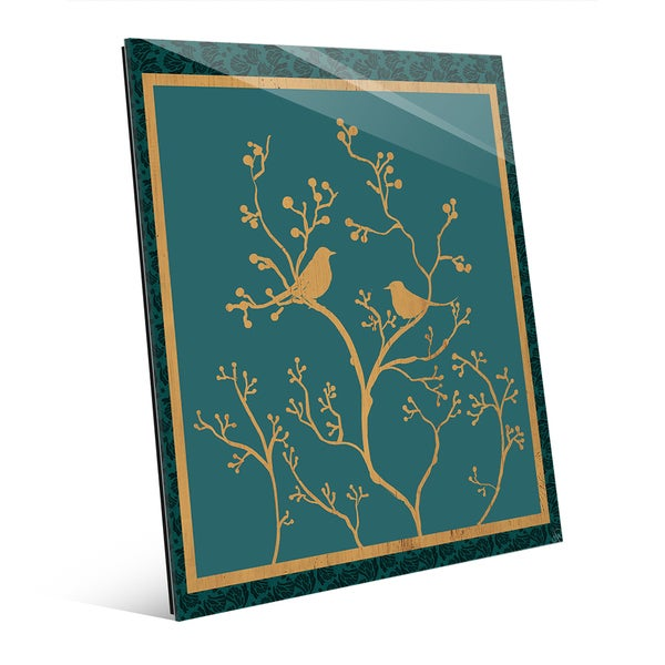 Birds and Branches' Glass Wall Art